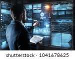 controlling everything. calm...   Shutterstock . vector #1041678625