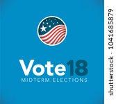 election header banner w  vote  | Shutterstock .eps vector #1041685879