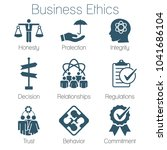 business ethics solid icon set... | Shutterstock .eps vector #1041686104