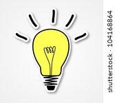 sketch of light bulb | Shutterstock .eps vector #104168864
