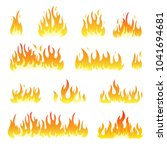 fire flames vector design set... | Shutterstock .eps vector #1041694681