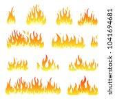 fire flames vector design set... | Shutterstock .eps vector #1041694681