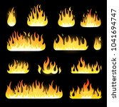 fire flame collection isolated... | Shutterstock .eps vector #1041694747