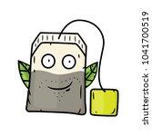 Cartoon Tea Bag. Vector Cartoo...