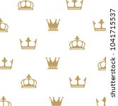 set collection crown logo design   Shutterstock .eps vector #1041715537