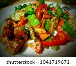 stir fried vegetables with... | Shutterstock . vector #1041719671
