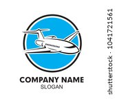 private jet logo | Shutterstock .eps vector #1041721561