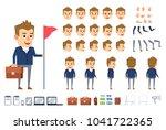 businessman character creation... | Shutterstock .eps vector #1041722365