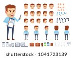 businessman character in blue... | Shutterstock .eps vector #1041723139