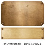 old copper metal plates or... | Shutterstock . vector #1041724021