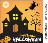 this is purely a halloween...   Shutterstock .eps vector #1041732859