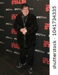 Small photo of New York, NY - March 8, 2018: Michael Moore attends New York premiere of IFC Film Death of Stalin at AMC Lincoln Square