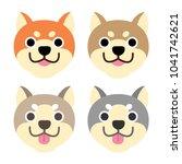 cute cartoon dogs vector... | Shutterstock .eps vector #1041742621