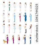 illustrations of various people ...   Shutterstock .eps vector #1041744325
