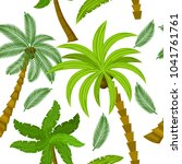palm tree seamless pattern for...   Shutterstock .eps vector #1041761761
