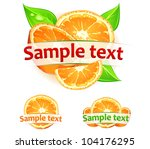orange fruits with leaves  ...   Shutterstock .eps vector #104176295