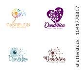 dandelion logo design | Shutterstock .eps vector #1041770317