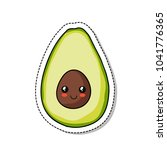 avocado doodle icon | Shutterstock .eps vector #1041776365