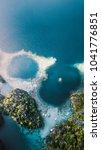 twin lagoon  near coron island  ...   Shutterstock . vector #1041776851