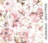 watercolor seamless pattern of... | Shutterstock . vector #1041779935