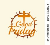 illustration of good friday...   Shutterstock .eps vector #1041782875