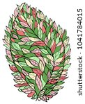 multi colored leaf in spring... | Shutterstock .eps vector #1041784015