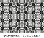 ornament with elements of black ... | Shutterstock . vector #1041785314