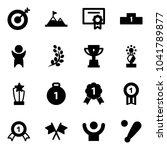 solid vector icon set   target... | Shutterstock .eps vector #1041789877