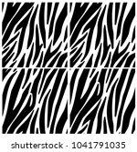 zebra print  animal skin  tiger ... | Shutterstock .eps vector #1041791035