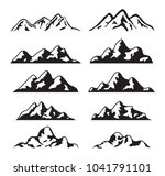 vector set of black and white... | Shutterstock .eps vector #1041791101
