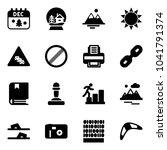 solid vector icon set  ... | Shutterstock .eps vector #1041791374