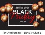 black friday sale banner...   Shutterstock . vector #1041792361