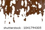 flowing molten chocolate. 3d... | Shutterstock . vector #1041794305