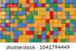 toy multicolored cubes. 3d... | Shutterstock . vector #1041794449