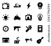 solid vector icon set   tv... | Shutterstock .eps vector #1041796594