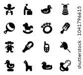 solid vector icon set   baby... | Shutterstock .eps vector #1041796615