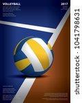 volleyball tournament poster...   Shutterstock .eps vector #1041798631