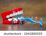 miniature people   worker team... | Shutterstock . vector #1041800335