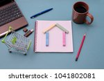 photo of the desktop with a... | Shutterstock . vector #1041802081