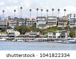 a view of the beautiful harbor... | Shutterstock . vector #1041822334