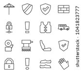 flat vector icon set   umbrella ... | Shutterstock .eps vector #1041823777