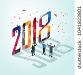 business in year 2018 | Shutterstock .eps vector #1041823801