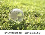 conceptual image of a globe on... | Shutterstock . vector #104183159