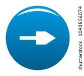 arrow icon blue circle isolated ...