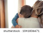 small boy with mother. small... | Shutterstock . vector #1041836671