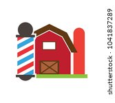 farm barber logo icon design | Shutterstock .eps vector #1041837289