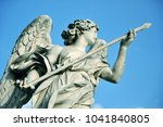 marble statue of angel holding... | Shutterstock . vector #1041840805