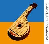 bandura ukrainian stringed... | Shutterstock .eps vector #1041844444