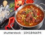 Close Up Of  Hot Beef Hungaria...