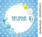 baby shower invitation card   Shutterstock .eps vector #1041851611